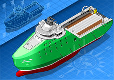 Isometric Ship  in Front View Royalty Free Stock Photos
