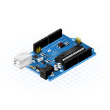 Isometric Single Board Microcontrollers Stock Images