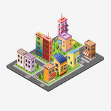Isometric skyscrapers and office buildings Stock Photography