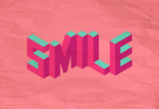 Isometric Smile quote background royalty free stock images