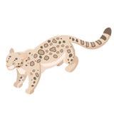 Isometric snow leopard Stock Photo