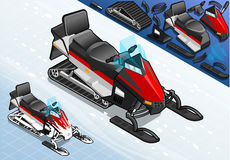 Isometric Snowmobile Motorbike in Front View Royalty Free Stock Photos