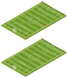 Isometric soccer field Royalty Free Stock Photo