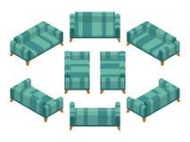 Isometric sofa Royalty Free Stock Photo