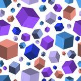 Isometric spadków sześcianów seamles tekstury tło wektor Obrazy Stock