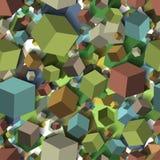 Isometric spadków sześcianów seamles tekstury tło wektor Obraz Stock