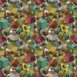 Isometric spadków sześcianów seamles tekstury tło wektor Zdjęcie Royalty Free