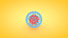 Isometric sphere atom array illustration, 3D rendering Royalty Free Stock Images