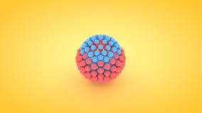 Isometric sphere atom array illustration, 3D rendering.  Stock Images