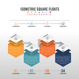 Isometric Square Floats Royalty Free Stock Image