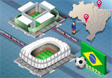 Isometric Stadium of Cuiaba and Fortaleza, Brazil Royalty Free Stock Photography