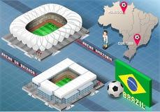 Isometric Stadium of Manaus and Curitiba, Brazil Stock Images