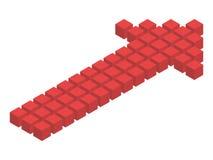 Isometric strzała od sześcianów ilustracji