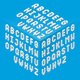 Isometric style fonts set Royalty Free Stock Images