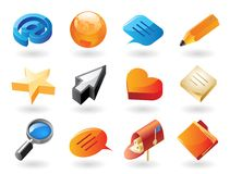 Free Isometric-style Icons For Conversation Royalty Free Stock Images - 17182299