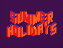 Isometric Summer Holidays quote background royalty free stock images