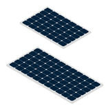 Isometric sun panels  on white background. Solar panels  on white background. Green renewable energy produced from sun. Ecological alterntive energy. Flat vector Stock Images