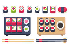Isometric sushi set Royalty Free Stock Images