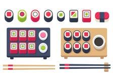 Isometric sushi set Royalty Free Stock Images