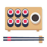 Isometric sushi set royalty free illustration