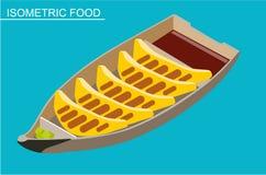Isometric sushi set. Japanese seafood vector. Flat illustration. Isometric sushi set. Japanese seafood vector. Asian restaurant food. Flat illustration. Fried vector illustration