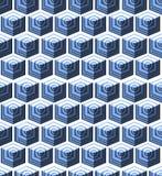 Isometric sześcianu płynnie powtarzalny wzór 3d tło wektor ilustracji