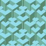 Isometric sześcianu płynnie powtarzalny wzór 3d tło wektor ilustracja wektor