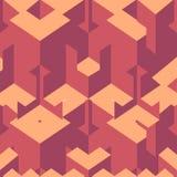 Isometric sześcianu płynnie powtarzalny wzór 3d tło wektor royalty ilustracja
