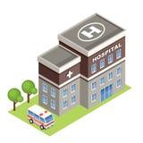 Isometric szpital Obrazy Stock
