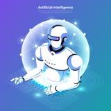 Isometric sztuczna inteligencja AI ilustracja wektor