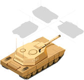 Isometric Tank Royalty Free Stock Photo