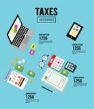 Isometric Taxes infographics. Royalty Free Stock Photos