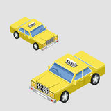 Isometric taxi car Stock Image