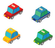 Isometric Taxi Stock Images