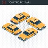 Isometric taxi samochód ilustracja wektor