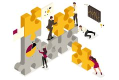 Isometric Business solution vector illustration
