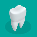 Isometric teeth icon dentist flat vector sign or symbol. For mobile user interface Royalty Free Stock Image