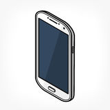Isometric telefon ikona Zdjęcia Royalty Free
