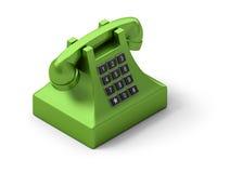Isometric telephone. 3d image. Isolated white background stock illustration