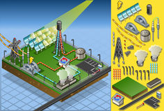 Isometric termo solar plant Royalty Free Stock Photography