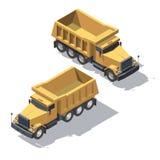 Isometric tipper φορτηγών κατασκευής Στοκ εικόνες με δικαίωμα ελεύθερης χρήσης