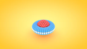 Isometric torus atom array illustration, 3D rendering.  Stock Images