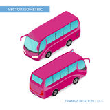 Isometric tourist bus. Vector illustration. Can be used for infographic and games. EPS 10 vector illustration