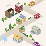 Isometric town Stock Photography