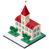 Isometric town hall building Royalty Free Stock Photo