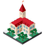 Isometric townhouse κτήριο Στοκ φωτογραφία με δικαίωμα ελεύθερης χρήσης