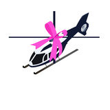 Isometric toy helicopter Royalty Free Stock Photography
