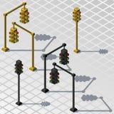 Isometric traffic lights. Stock Photos
