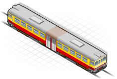 Isometric train Royalty Free Stock Photo