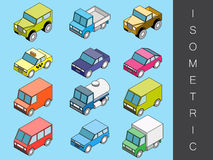 Isometric transport icon set. Stock Photo